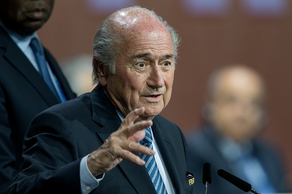 ZURICH, SWITZERLAND - MAY 29: FIFA President Joseph S. Blatter speaks after his election at the 65th FIFA Congress at Hallenstadion on May 29, 2015 in Zurich, Switzerland. (Photo by Philipp Schmidli/Getty Images)