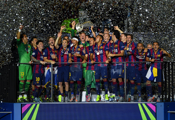 during the UEFA Champions League Final between Juventus and FC Barcelona at Olympiastadion on June 6, 2015 in Berlin, Germany.