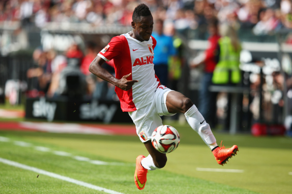 FRANKFURT AM MAIN, GERMANY - SEPTEMBER 14:  Abdul Rahman Baba of Augsburg controles the ball during the Bundesliga match between Eintracht Frankfurt and FC Augsburg at Commerzbank-Arena on September 14, 2014 in Frankfurt am Main, Germany.  (Photo by Alex Grimm/Bongarts/Getty Images)