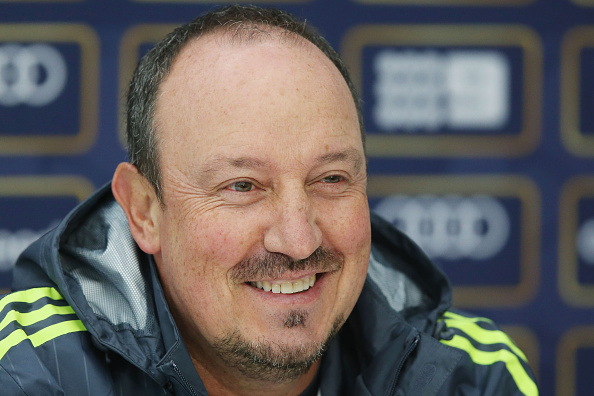 MELBOURNE, AUSTRALIA - JULY 17:  Real Madrid Head Manager Rafa Benitez reacts during a media session at Melbourne Cricket Ground on July 17, 2015 in Melbourne, Australia.  (Photo by Michael Dodge/Getty Images)