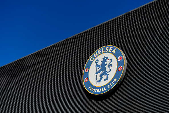 LONDON, ENGLAND - NOVEMBER 1: Chelsea logo is pictured prior to the Barclays Premier League match between Chelsea and Queens Park Rangers at Stamford Bridge on November 1, 2014 in London, England. (Photo by Mike Hewitt/Getty Images)