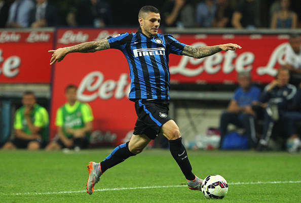 MILAN, ITALY - MAY 31:  Mauro Emanuel Icardi of FC Internazionale Milano in action during the Serie A match between FC Internazionale Milano and Empoli FC at Stadio Giuseppe Meazza on May 31, 2015 in Milan, Italy.  (Photo by Marco Luzzani/Getty Images)