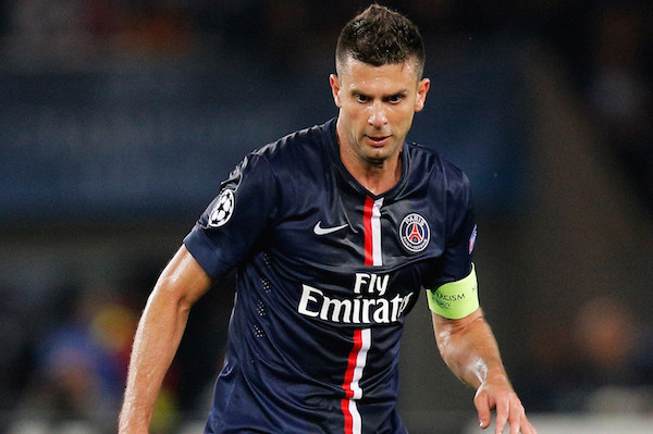 of PSG of Barcelona during the Group F UEFA Champions League match between Paris Saint-Germain v FC Barcelona held at Parc des Princes on September 30, 2014 in Paris, France.