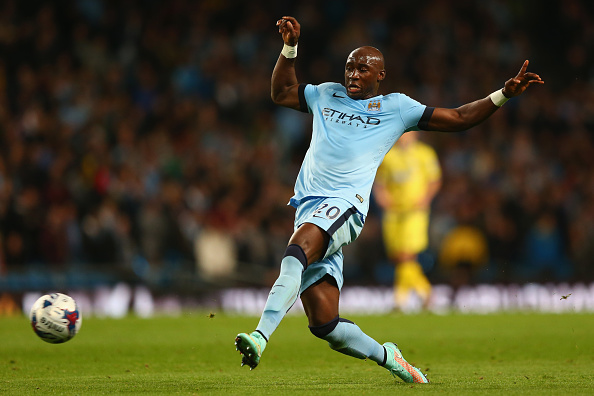 MANCHESTER, ENGLAND - SEPTEMBER 24:  Eliaquim Mangala of Manchester City during the Capital One Cup Third Round match between Manchester City and Sheffield Wednesday at the Etihad Stadium on September 24, 2014 in Manchester, England.  (Photo by Michael Steele/Getty Images)