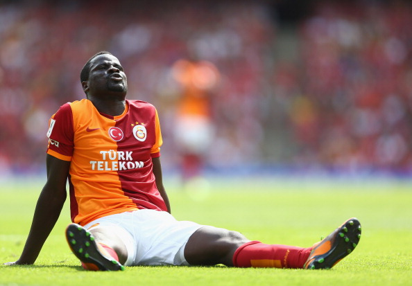 LONDON, ENGLAND - AUGUST 03:  Emmanuel Eboue of Galatasaray during the match between Galatasaray and FC Porto at Emirates Stadium on August 3, 2013 in London, England.  (Photo by Paul Gilham/Getty Images)