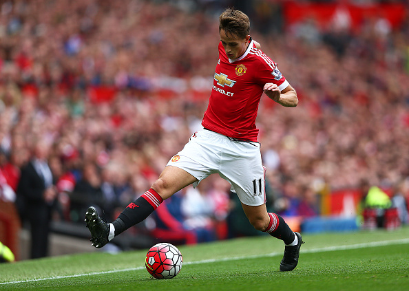 MANCHESTER, ENGLAND - AUGUST 22:  Adnan Januzaj of Manchester United in action during the Barclays Premier League match between Manchester United and Newcastle United at Old Trafford on August 22, 2015 in Manchester, United Kingdom.  (Photo by Clive Brunskill/Getty Images)