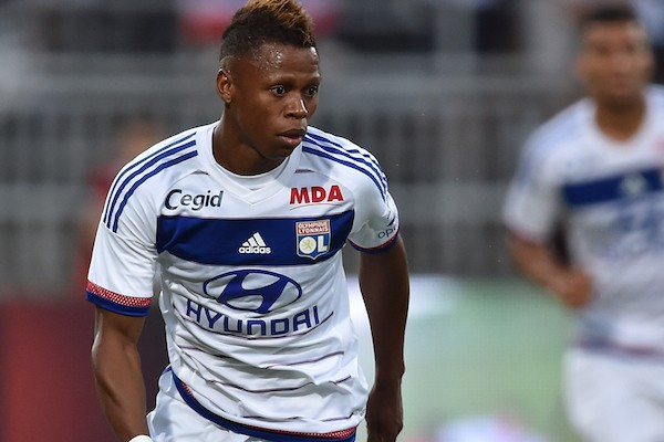 LYON, FRANCE - JULY 18:  Clinton Njie of Olympique Lyonnais in action during the preseason friendly match between Olympique Lyonnais and AC MIlan at Gerland Stadium on July 18, 2015 in Lyon, France.  (Photo by Valerio Pennicino/Getty Images)
