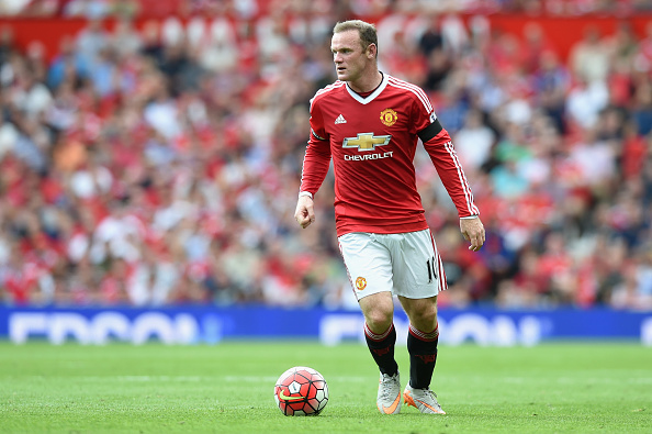 MANCHESTER, ENGLAND - AUGUST 08: Wayne Rooney of Manchester United in action during the Barclays Premier League match between Manchester United and and Tottingham Hotspur at Old Trafford, Manchester.  (Photo by Michael Regan/Getty Images)