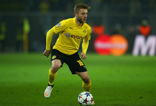 DORTMUND, GERMANY - MARCH 18:  Jakub Blaszczykowski of Borussia Dortmund on the ball during the UEFA Champions League Round of 16 between Borussia Dortmund and Juventus at Signal Iduna Park on March 18, 2015 in Dortmund, Germany.  (Photo by Alex Grimm/Bongarts/Getty Images)