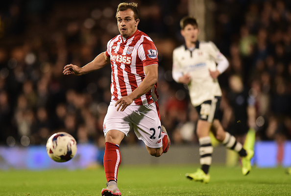 LONDON, ENGLAND - SEPTEMBER 22: Xherdan Shaqiri of Stoke City in action during the Capital One Cup Third Round match between Fulham and Stoke City at Craven Cottage on September 22, 2015 in London, United Kingdom. (Photo by Alex Broadway/Getty Images)