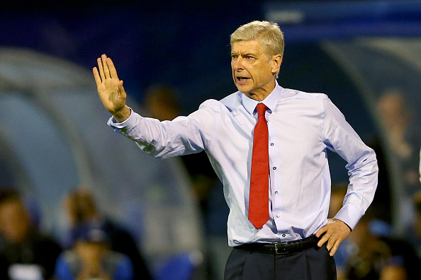 ZAGREB, CROATIA - SEPTEMBER 16:  Arsene Wenger, head coach of Arsenal London reacts during the UEFA Champions League Group F match between Dinamo Zagreb and Arsenal at Maksimir Stadium on September 16, 2015 in Zagreb, Croatia.  (Photo by Alexander Hassenstein/Getty Images)