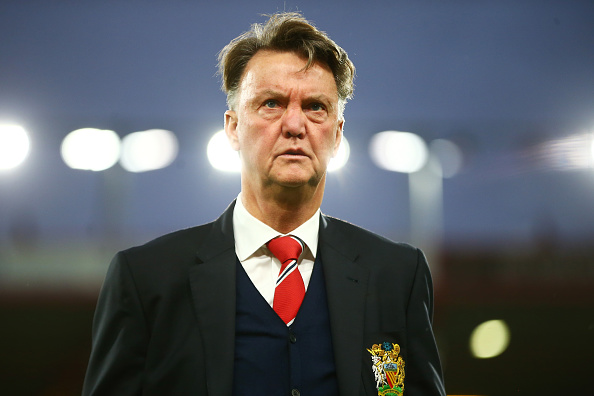 BOURNEMOUTH, ENGLAND - DECEMBER 12:  Louis van Gaal Manager of Manchester United looks on prior to the Barclays Premier League match between A.F.C. Bournemouth and Manchester United at Vitality Stadium on December 12, 2015 in Bournemouth, United Kingdom.  (Photo by Jordan Mansfield/Getty Images)