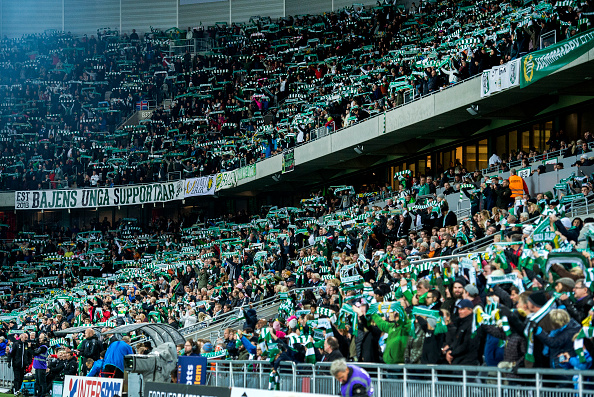 STOCKHOLM, SWEDEN - OCTOBER 25: Hammarby IF hits new All-Time high audience record during the Allsvenskan match between Hammarby IF and Malmo FF at Tele2 Arena on October 25, 2015 in Stockholm, Sweden.  (Photo by Marcus Ericsson/Ombrello/Getty Images)