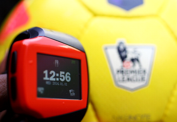 SUNDERLAND, ENGLAND - JANUARY 01:   'Goal line technology' equipment and Nike Incyte match ball prior to the Barclays Premier League match between Sunderland and Aston Villa at Stadium of Light on January 1, 2014 in Sunderland, England.  (Photo by Matthew Lewis/Getty Images)