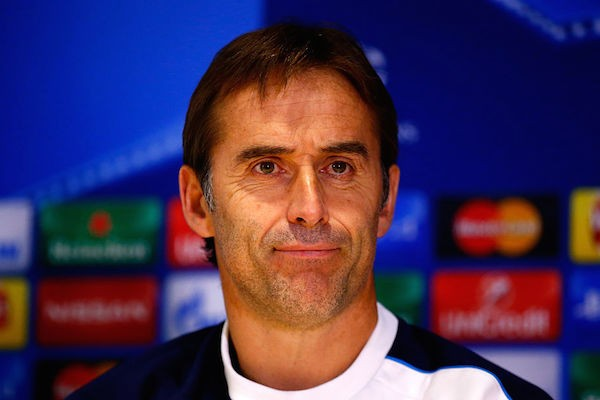 LONDON, ENGLAND - DECEMBER 08:  Julen Lopetegui, Manager of FC Porto attends a press conference ahead of the UEFA Champions League match against Chelsea at Stamford Bridge on December 8, 2015 in London, England.  (Photo by Clive Rose/Getty Images)