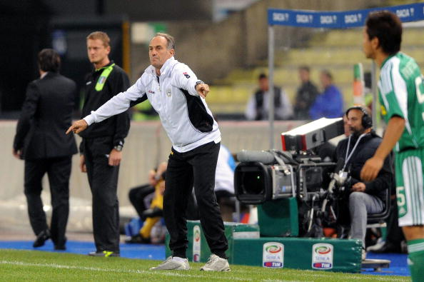 UDINE, ITALY - OCTOBER 02:  Francesco Guidolini coach of Udinese in action during the Serie A match between Udinese Calcio and AC Cesena at Stadio Friuli on October 2, 2010 in Udine, Italy.  (Photo by Roberto Serra/Getty Images)