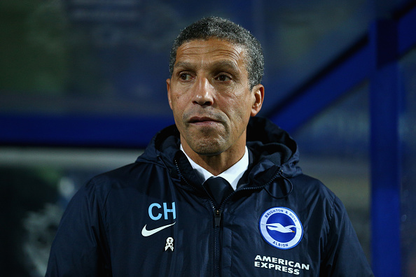LONDON, ENGLAND - DECEMBER 15:  Brighton manager Chris Hughton looks on before kick off during the Sky Bet Championship match between Queens Park Rangers and Brighton and Hove Albion at Loftus Road on December 15, 2015 in London, United Kingdom.  (Photo by Harry Engels/Getty Images)