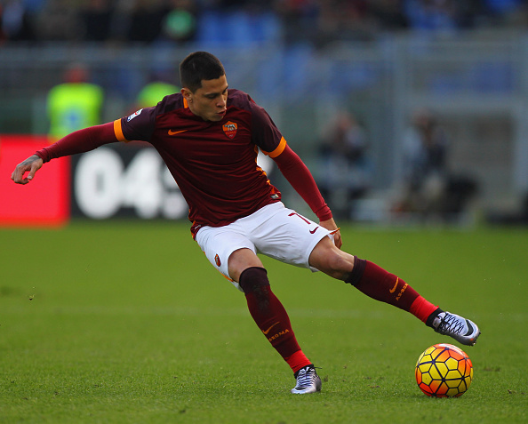 during the Serie A match between AS Roma and Atalanta BC at Stadio Olimpico on November 29, 2015 in Rome, Italy.