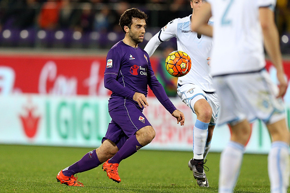 FLORENCE, ITALY - JANUARY 09: Giuseppe Rossi of ACF Fiorentina in action  during the Serie A match between ACF Fiorentina and SS Lazio at Stadio Artemio Franchi on January 9, 2016 in Florence, Italy.  (Photo by Gabriele Maltinti/Getty Images)