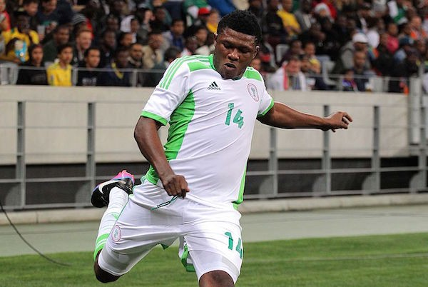 CAPE TOWN, SOUTH AFRICA - SEPTEMBER 10: Gbolahan Salami of Nigeria during the Orange AFCON, Morocco 2015 Final Round Qualifier match between South Africa and Nigeria at Cape Town Stadium on September 10, 2014 in Cape Town, South Africa. (Photo by Carl Fourie/Gallo Images)