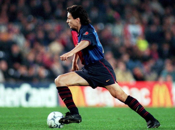 BARCELONA, SPAIN - MARCH 15:  CHAMPIONS LEAGUE 99/00, Barcelona/ESP; FC BARCELONA - HERTHA BSC BERLIN 3:1; Jari LITMANEN/BARCELONA  (Photo by Martin Rose/Bongarts/Getty Images)