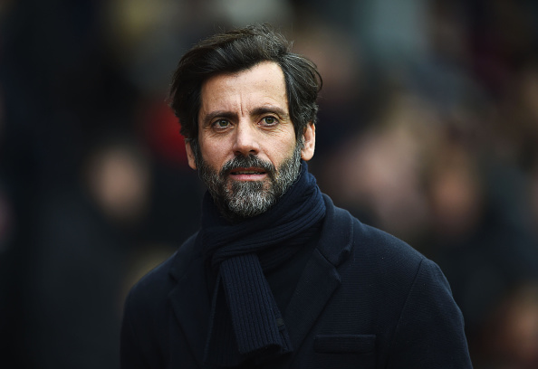 NOTTINGHAM, ENGLAND - JANUARY 30:  Quique Flores manager of Watford looks on prior to the Emirates FA Cup fourth round between Nottingham Forest and Watford at City Ground on January 30, 2016 in Nottingham, England.  (Photo by Laurence Griffiths/Getty Images)