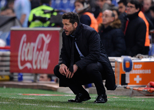 <> at Vicente Calderon Stadium on January 27, 2016 in Madrid, Spain.