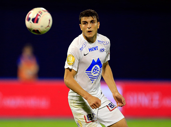 ZAGREB, CROATIA - JULY 28: Mohamed Elyounoussi of FC Molde in action during the UEFA Champions League Third Qualifying Round 1st Leg match between FC Dinamo Zagreb and FC Molde at Maksimir stadium in Zagreb, Croatia on Tuesday, July 28, 2015. (Photo by Srdjan Stevanovic/Getty Images)