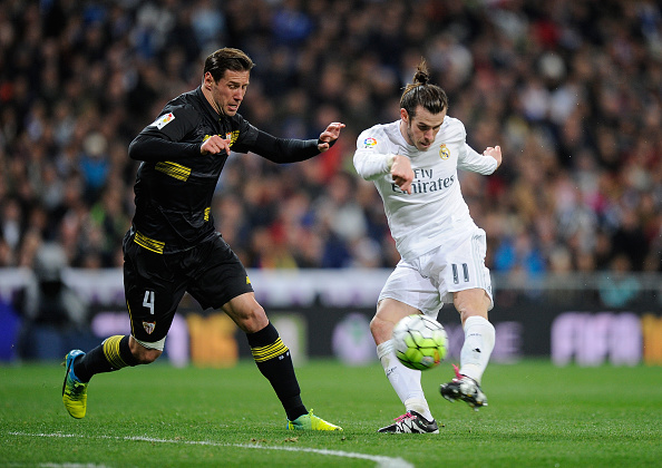 <> at Estadio Santiago Bernabeu on March 20, 2016 in Madrid, Spain.