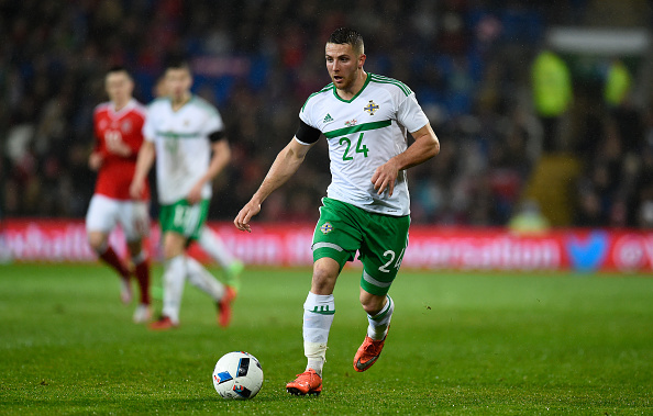CARDIFF, WALES - MARCH 24:  Northern Ireland player Conor Washington in action during the International friendly match between Wales and Northern Ireland at Cardiff City Stadium on March 24, 2016 in Cardiff, Wales.  (Photo by Stu Forster/Getty Images)