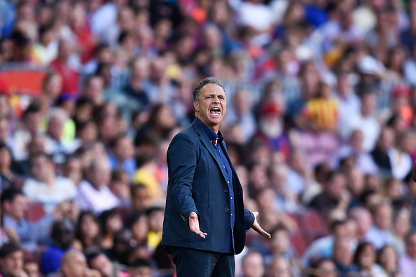 BARCELONA, SPAIN - SEPTEMBER 27: Head coach Joaquin Caparros of Granda CF reacts during the La Liga match between FC Barcelona and Granada CF at Camp Nou on September 27, 2014 in Barcelona, Spain.  (Photo by David Ramos/Getty Images)