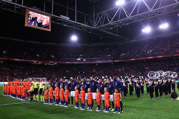 during the International Friendly match between Netherlands and France at Amsterdam Arena on March 25, 2016 in Amsterdam, Netherlands.