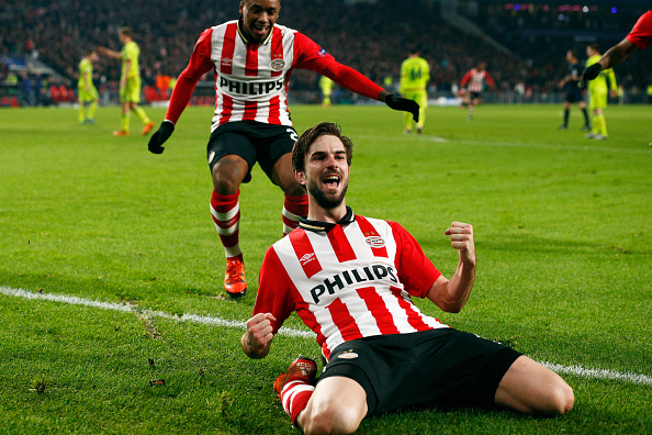 during the group B UEFA Champions League match between PSV Eindhoven and CSKA Moscow held at Philips Stadium, on December 8, 2015 in Eindhoven, Netherlands.