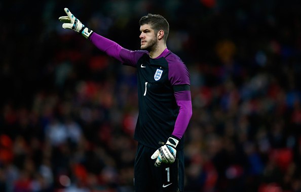 LONDON, ENGLAND - MARCH 29:  Fraser Forster of England during the International Friendly match between England and Netherlands at Wembley Stadium on March 29, 2016 in London, England.  (Photo by Julian Finney/Getty Images)