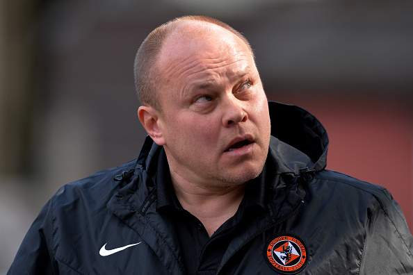 DUNDEE, SCOTLAND - MARCH 20 : Dundee United manager Mixu Paatelainen during the Ladbrokes Scottish Premiership match between Dundee United FC and Dundee FC at Tannadice Park on March 20, 2016 in Dundee, Scotland. (Photo by Mark Runnacles/Getty Images)