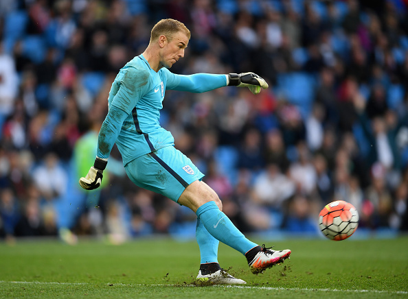 MANCHESTER, ENGLAND - MAY 22:  Joe Hart of England in action during the International Friendly match between England and Turkey at Etihad Stadium on May 22, 2016 in Manchester, England.  (Photo by Laurence Griffiths/Getty Images)