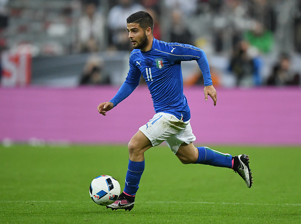 MUNICH, GERMANY - MARCH 29:  Lorenzo Insigne of Italy controls the ball during the International Friendly match between Germany and Italy at Allianz Arena on March 29, 2016 in Munich, Germany.  (Photo by Matthias Hangst/Bongarts/Getty Images)