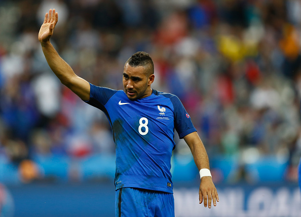 PARIS, FRANCE - JUNE 10:  Dimitri Payet of France applauds supporters after his team's 2-1 win in the UEFA Euro 2016 Group A match between France and Romania at Stade de France on June 10, 2016 in Paris, France.  (Photo by Clive Rose/Getty Images)