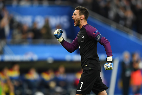 PARIS, FRANCE - JUNE 10:  Hugo Lloris of France celebrates his team's first goal during the UEFA Euro 2016 Group A match between France and Romania at Stade de France on June 10, 2016 in Paris, France.  (Photo by Shaun Botterill/Getty Images)
