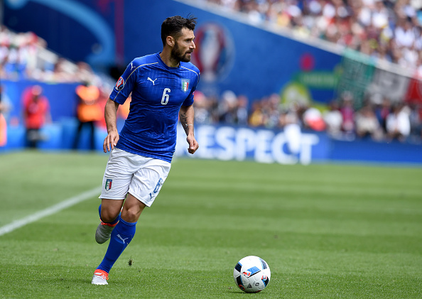TOULOUSE, FRANCE - JUNE 17:  Antonio Candreva of Italy in action during the UEFA EURO 2016 Group E match between Italy and Sweden at Stadium Municipal on June 17, 2016 in Toulouse, France.  (Photo by Claudio Villa/Getty Images)
