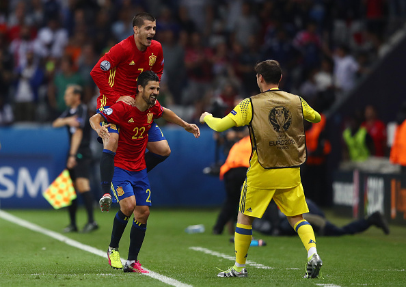 during the UEFA EURO 2016 Group D match between Spain and Turkey at Allianz Riviera Stadium on June 17, 2016 in Nice, France.