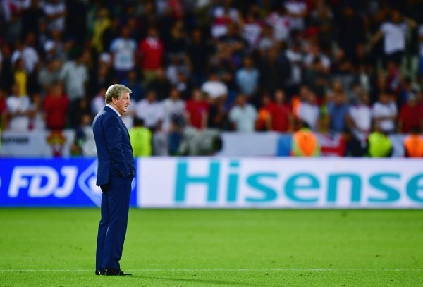 SAINT-ETIENNE, FRANCE - JUNE 20:  Roy Hodgson manager of England shows his frustration after his team's scoreless draw in the UEFA EURO 2016 Group B match between Slovakia and England at Stade Geoffroy-Guichard on June 20, 2016 in Saint-Etienne, France.  (Photo by Dan Mullan/Getty Images)