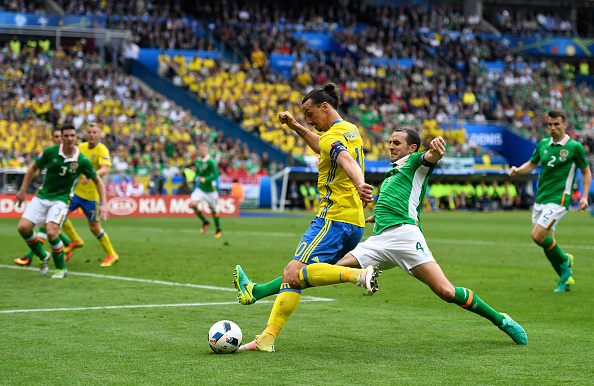 during the UEFA EURO 2016 Group E match between Republic of Ireland and Sweden at Stade de France on June 13, 2016 in Paris, France.