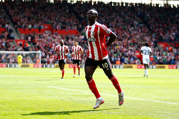 during the Barclays Premier League match between Southampton and Crystal Palace at St Mary's Stadium on May 15, 2016 in Southampton, England.
