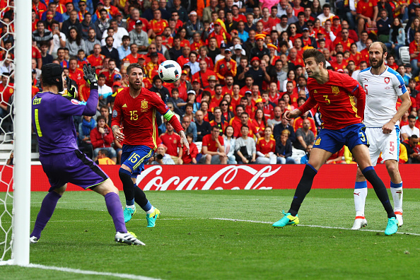 during the UEFA EURO 2016 Group D match between Spain and Czech Republic at Stadium Municipal on June 13, 2016 in Toulouse, France.