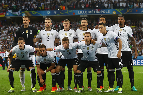 during the UEFA EURO 2016 Group C match between Germany and Ukraine at Stade Pierre-Mauroy on June 12, 2016 in Lille, France.