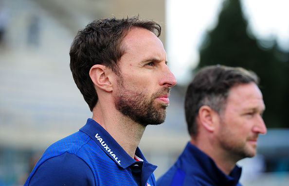 AVIGNON, FRANCE - MAY 29: Gareth Southgate, Coach of England during the Final of the Toulon Tournament between England and France at Parc Des Sports on May 29, 2016 in Avignon, France. (Photo by Harry Trump/Getty Images)
