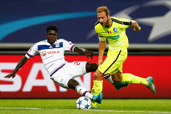 during the UEFA Champions League Group H match between KAA Gent and Olympique Lyonnais held at Ghelamco Arena on September 16, 2015 in Gent, Belgium.