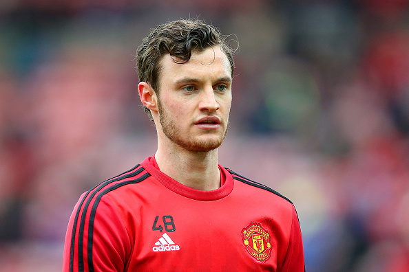SUNDERLAND, ENGLAND - FEBRUARY 13:  Will Keane of Manchester United is seen during the warm up prior to the Barclays Premier League match between Sunderland and Manchester United at the Stadium of Light on February 13, 2016 in Sunderland, England.  (Photo by Ian MacNicol/Getty Images)