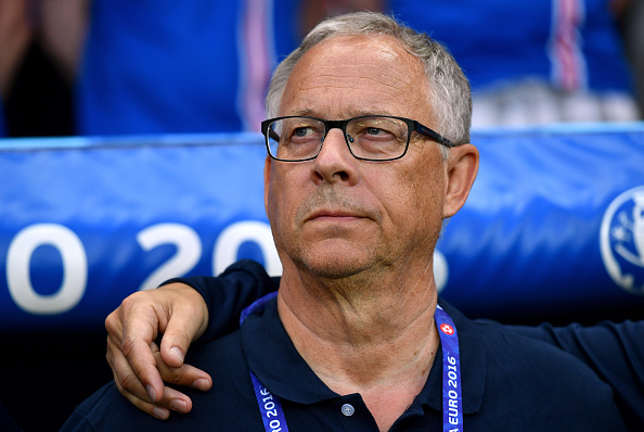 NICE, FRANCE - JUNE 27:  Lars Lagerback head coach of Iceland looks on prior to the UEFA EURO 2016 round of 16 match between England and Iceland at Allianz Riviera Stadium on June 27, 2016 in Nice, France.  (Photo by Dan Mullan/Getty Images)